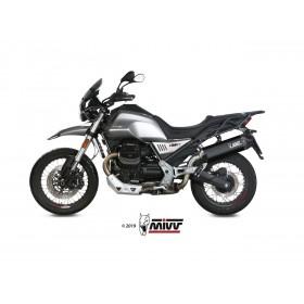 Silencieux MIVV Speed Edge inox/casquette carbone Moto Guzzi V85TT