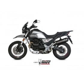 Silencieux MIVV Oval carbone/casquette carbone Moto Guzzi V85TT