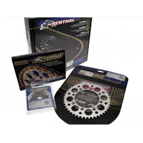Kit chaine RENTHAL 520 type R1 (couronne Ultra-light anti-boue) HONDA CRF 250 R