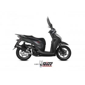Silencieux MIVV Mover inox noir/casquette ABS noir Honda SH 300