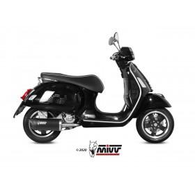Silencieux MIVV Mover inox noir/casquette ABS noir Piaggio Vespa GTS 300