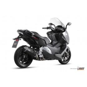 Silencieux MIVV Speed Edge Black inox noir/casquette carbone BMW C 600 Sport
