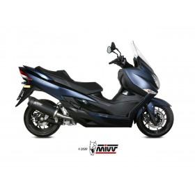 Silencieux MIVV Mover inox noir/casquette ABS noir Suzuki Burgman 400