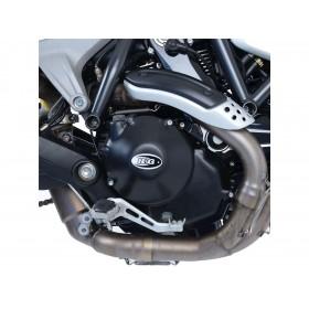 Couvre carter R&G RACING droit (embrayage hydraulique) noir Ducati Scrambler 1100