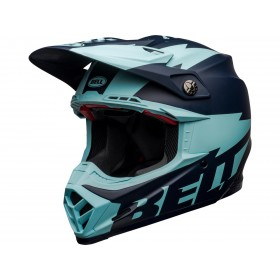 Casque BELL Moto-9 Flex Breakaway Matte Navy/Light Blue taille S