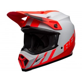 Casque BELL MX-9 Mips Dash Matte Gray/Infrared/Black taille M