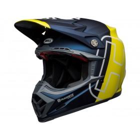 Casque BELL Moto-9 Flex Husqvarna Gotland Matte/Gloss Blue/Hi-Viz taille XL