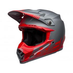 Casque BELL Moto-9 Flex Louver Matte Gray/Red taille M