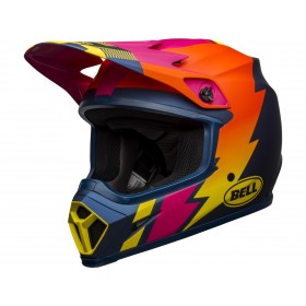 Casque BELL MX-9 Mips Strike Matte Blue/Orange/Pink taille L