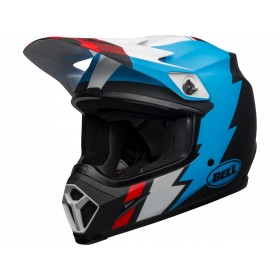 Casque BELL MX-9 Mips Strike Matte Black/Blue/White taille XL