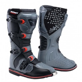 BOTTES TRACK ADULTE 43 GREY RED