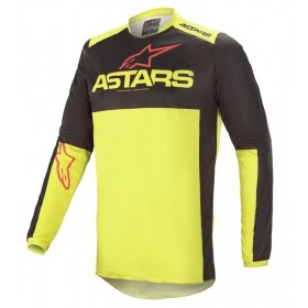 FLUID TRIPPLE JERSEY BLACK YELLOW FLUO B