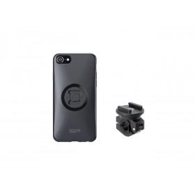 Pack complet SP-CONNECT Moto Bundle fixé sur rétroviseur iPhone 8/7/6/6S