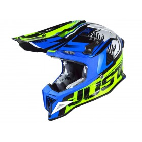 Casque JUST1 J12 Dominator Blue/Neon Yellow taille XS