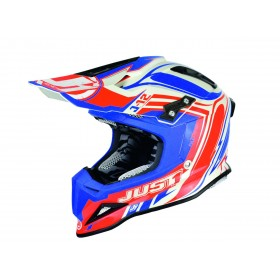 Casque JUST1 J12 Flame Red/Blue taille L