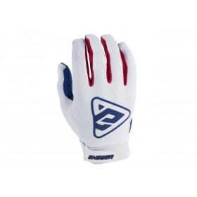 Gants ANSWER AR3 blanc/rouge taille M