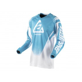 Maillot ANSWER Syncron Air Drift blanc/Astana taille L