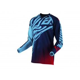 Maillot ANSWER Syncron Flow Astana/Indigo/Bright Red taille L