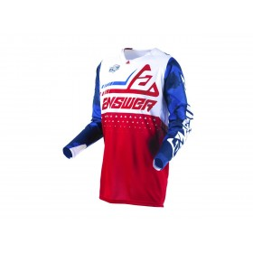 Maillot ANSWER Elite Discord rouge/blanc taille S