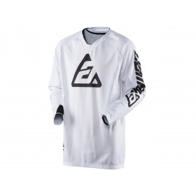 Maillot ANSWER Elite Solid blanc taille S