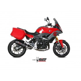 Silencieux MIVV Oval carbone/casquette carbone BMW F900XR