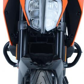 Protections latérales R&G RACING orange KTM Duke