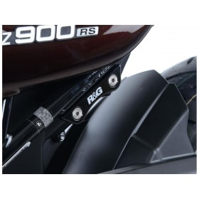 Cache-orifices repose-pieds arrière R&G RACING noir