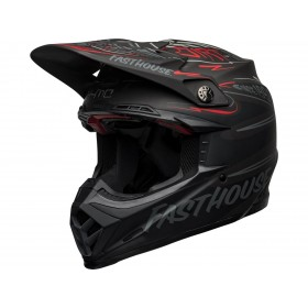 Casque BELL Moto-9 Flex Fasthouse DID 21' Matte Black/Grey/Red