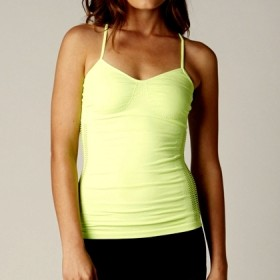 HELLO! CAMI DAY GLO GREEN M-L