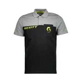 POLO SHIRT CO FACTORY TEAM S/SL BLK/DR G