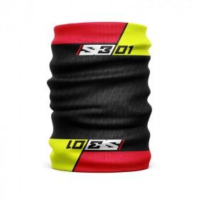 Tour de cou S3 rouge/noir
