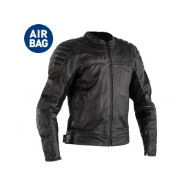 Veste RST Fusion Airbag cuir noir homme