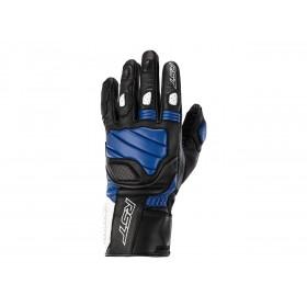 Gants RST Turbine cuir noir/bleu/blanc homme
