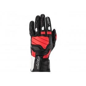 Gants RST Turbine cuir noir/rouge/blanc homme