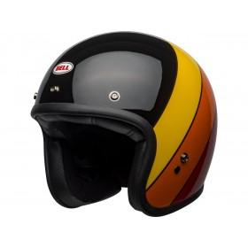 Casque BELL Custom 500 DLX Riff Gloss Black/Yellow/Orange/Red