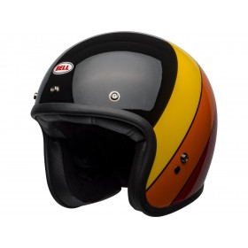 Casque BELL Custom 500 DLX Riff Gloss Black/Yellow/Orange/Red