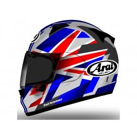 Casque ARAI Profile-V Flag UK + Pinlock 120 clair