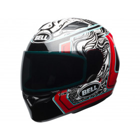 Casque BELL Qualifier Gloss Tagger White/Black/Red Splice taille XL