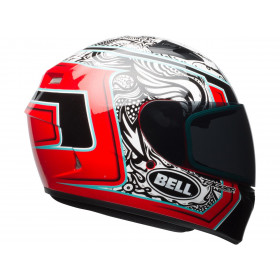 Casque BELL Qualifier Gloss Tagger White/Black/Red Splice taille L