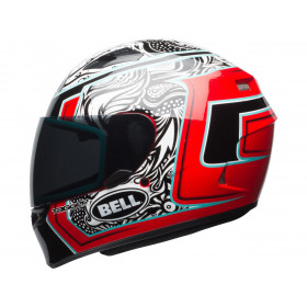 Casque BELL Qualifier Gloss Tagger White/Black/Red Splice taille S