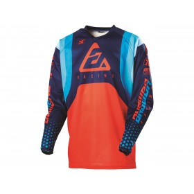 Maillot ANSWER Syncron Swish Blue/Asta/Red taille M