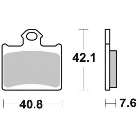 Plaquettes de frein BRAKING Off-Road/Quad métal fritté - 949CM44