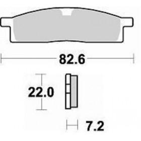 Plaquettes de frein BRAKING Off-Road/Quad métal fritté - 705CM44