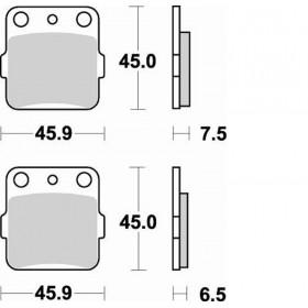 Plaquettes de frein BRAKING Off-Road/Quad métal fritté - 686CM44