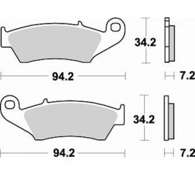 Plaquettes de frein BRAKING Off-Road/Quad métal fritté - 772CM44