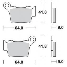 Plaquettes de frein BRAKING Off-Road/Quad métal fritté - 891CM44
