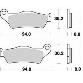 Plaquettes de frein BRAKING Off-Road/Quad métal fritté - 746CM44