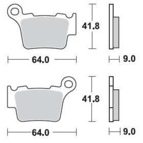 Plaquettes de frein BRAKING Off-Road métal fritté - 891CM46