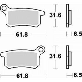 Plaquettes de frein BRAKING Off-Road/Quad métal fritté - 873CM44