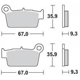 Plaquettes de frein BRAKING Off-Road/Quad métal fritté - 890CM44